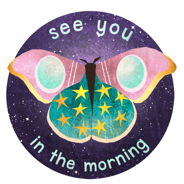 Midnight Moth Bedtime Stickers messages sticker-3