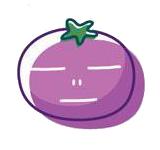 玉米炒饭-茄子Emoji messages sticker-5
