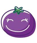玉米炒饭-茄子Emoji messages sticker-6