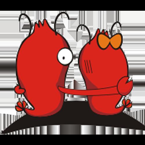 龙虾转 messages sticker-10