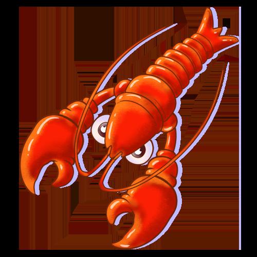 龙虾转 messages sticker-5