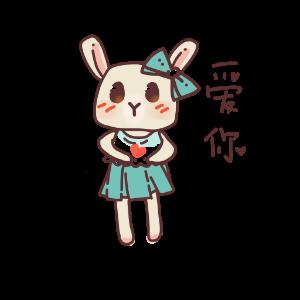 俏碧兔的生活 messages sticker-3
