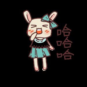 俏碧兔的生活 messages sticker-4