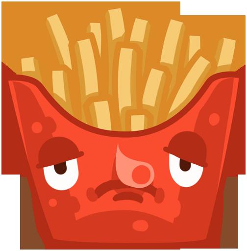 Stickers: Crazy Foods! messages sticker-1