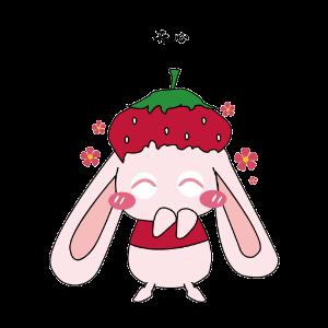 九西草莓兔 messages sticker-7
