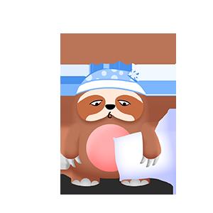 幼稚的猫头鹰 messages sticker-1