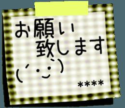 ステッカー:あなたへのメモ messages sticker-6