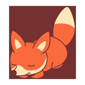 OrangeFoxShow messages sticker-6