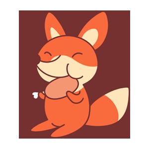 OrangeFoxShow messages sticker-5