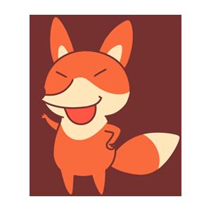 OrangeFoxShow messages sticker-1
