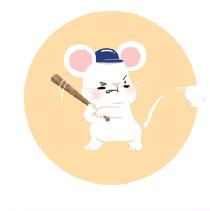 灰色老鼠-Sticker messages sticker-4
