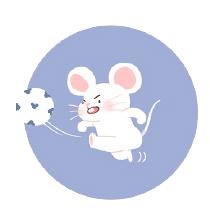 灰色老鼠-Sticker messages sticker-0