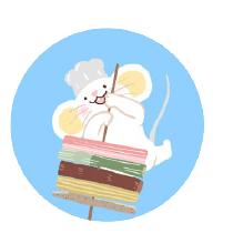 灰色老鼠-Sticker messages sticker-3