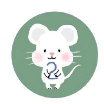 灰色老鼠-Sticker messages sticker-8