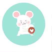 灰色老鼠-Sticker messages sticker-5