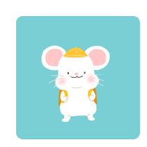 灰色老鼠-Sticker messages sticker-10