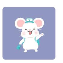灰色老鼠-Sticker messages sticker-11