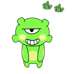 Green Little Monster messages sticker-0