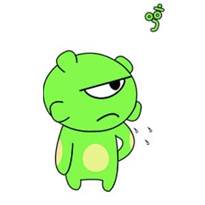 Green Little Monster messages sticker-7