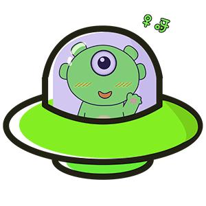 Green Little Monster messages sticker-4