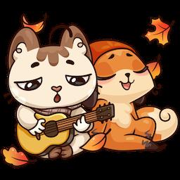 Stickers: Autumn·Friendship messages sticker-0