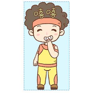 蓬蓬头健美教练 messages sticker-7