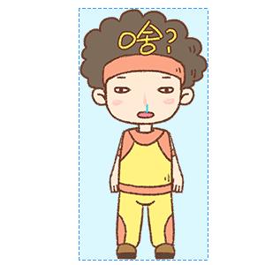 蓬蓬头健美教练 messages sticker-1
