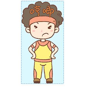 蓬蓬头健美教练 messages sticker-3