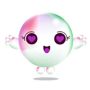 Cartoons Bubble messages sticker-5
