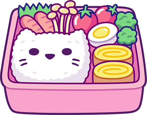 Kawaii Stickers - Food messages sticker-0