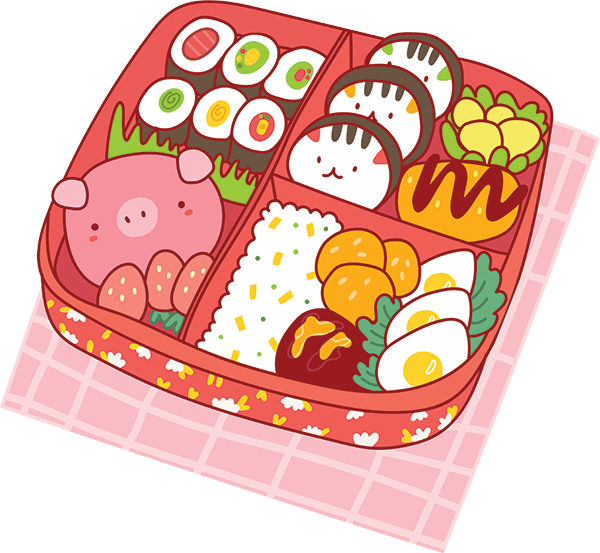 Kawaii Stickers - Food messages sticker-2