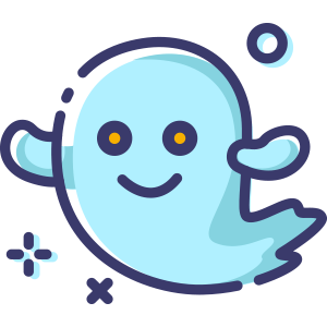 Blue Little Specter messages sticker-0