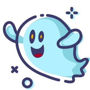 Blue Little Specter messages sticker-2