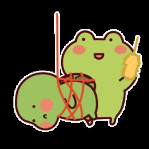 下雨呱呱蛙 messages sticker-2
