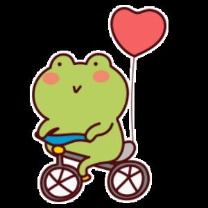 下雨呱呱蛙 messages sticker-1