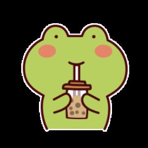 下雨呱呱蛙 messages sticker-6