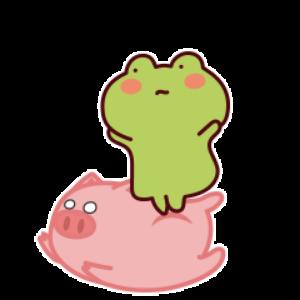 下雨呱呱蛙 messages sticker-10