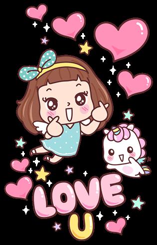 Stickers: 寶藏女孩的問  候 messages sticker-11