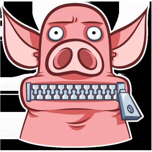 皮特猪-斗图神器 messages sticker-2