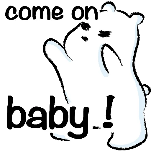 WhiteBear-sticker messages sticker-7