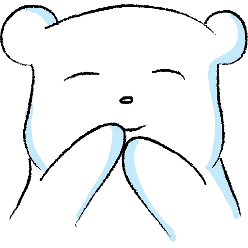 WhiteBear-sticker messages sticker-4