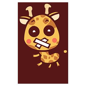 来自二次元的长颈鹿 messages sticker-1