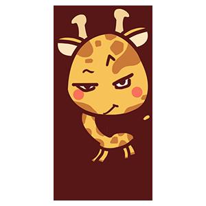 来自二次元的长颈鹿 messages sticker-11