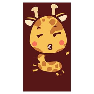 来自二次元的长颈鹿 messages sticker-2