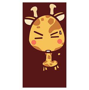 来自二次元的长颈鹿 messages sticker-10