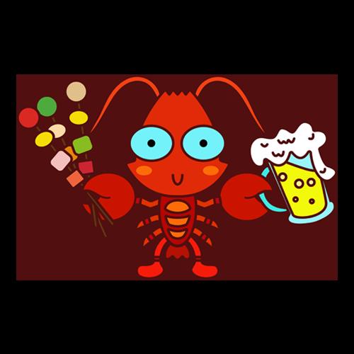 小龙虾转 messages sticker-4
