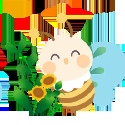 CartoonBee messages sticker-4