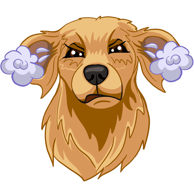 RadarMojis - Golden Retriever messages sticker-0