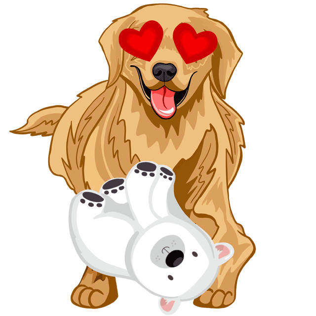 RadarMojis - Golden Retriever messages sticker-2
