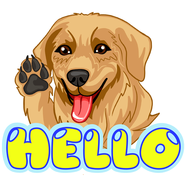RadarMojis - Golden Retriever messages sticker-3